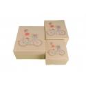 Набор коробок для подарков с 3 шт Велосипед