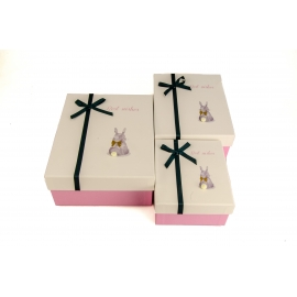 Set of boxes for gifts with 3 pieces 107-41 Rabbit