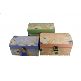 Set of boxes for gifts A chest of 3 pieces mix