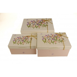 Set of boxes for gifts with 3 pcs G01-59 Spring flowers