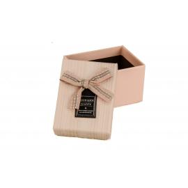 Картонна коробка для прикрас D46-44 рожева