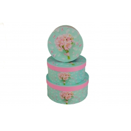 Set of round boxes 2245-SY415 bouquet of roses
