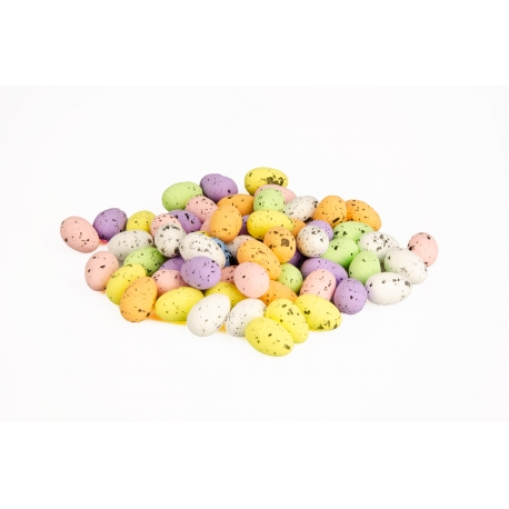 Easter eggs in a grid of 60 pieces are multicolored