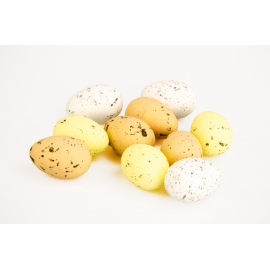 Easter eggs in a pack of 10 pieces natural