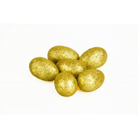 Великодні яйця в пачці 6шт золоті