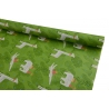 0.7m * 10yards Giraffe paper on green