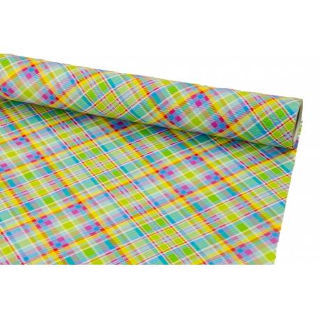 Бумага мелованная 0.7м * 10 ярд Цветная шотландка