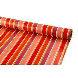 Папір крейдованый 0.7м*10 ярд Червоні та малинові смужки