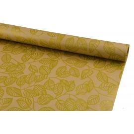 Папір Ретро 0,7*10 ярд Золоті листочки на крафті 206-1