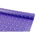 Paper 0.7m * 10 yard Flowers on purple