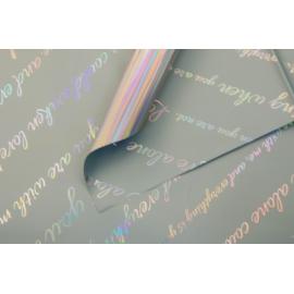 Пленка в листах с металлической надписью Серая