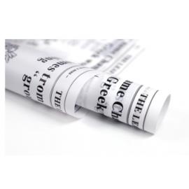 Matte film in letters White Newspaper