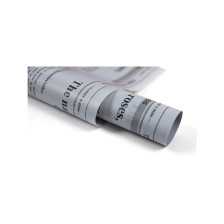 Matte film in letters Newspaper Gray