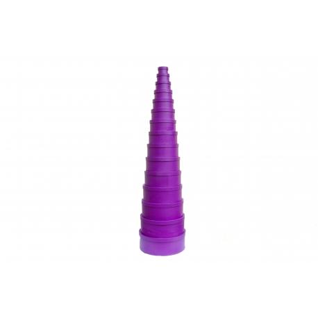 Set of round boxes 1501-411z 15 pcs Purple