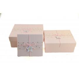 """Набір коробок для подарунків з 3 шт 107-36 """"live laugh love"""""""