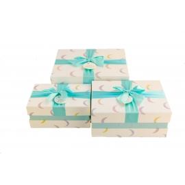 Набір коробок для подарунків з 3 шт NC05-26 Луна