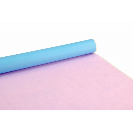 Bilateral paper PRESIDENT 0,7m x 8m Blue + Pink