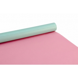 Bilateral paper 0,7m x 10m Turquoise + Pink