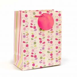 Пакет бумажный Розовые Цветы ENC-M-1381