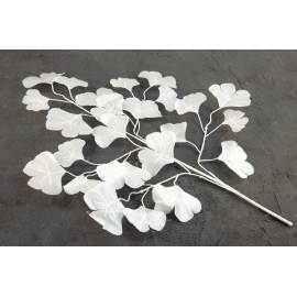 Branch of artificial white leaves 19V-1