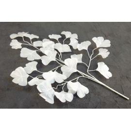Ветка искусственного белого листья 19V-1