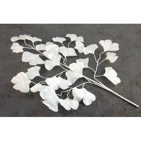 Branch of artificial white leaves 19V-1