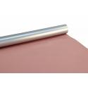 Папір двосторонній металізований 0.7*10м (80г.) Срібло + Півонія 9042