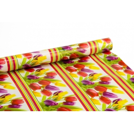 """Coated paper 0,7m x 10 yards """"Tulips"""""""