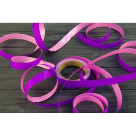 Cтрічка 2см*25м Colorissima Фіолет + рожевий