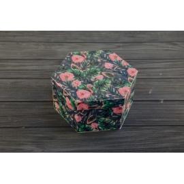 Коробка шестигранна для подарунків