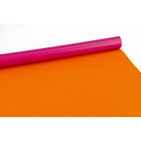 Бумага двусторонняя 0,7 * 10м Малина + Оранжевый 602-205
