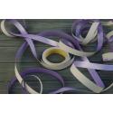 Лента Colorissima двухсторонняя 25м Серый + Фиолетовый