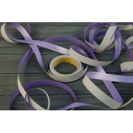 Стрічка Colorissima двухстороння 25м Сірий + Фіолет