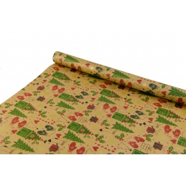 """New Year's paper. 0.7m * 10yards """"New Year's Attributes"""" on Kraft"""