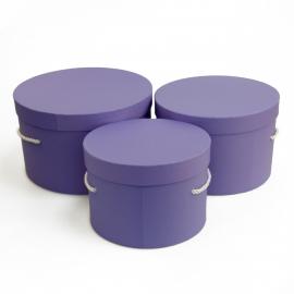 Набір круглих коробок 3 шт Forever 3002-1902 Бузкові