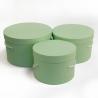 Набір круглих коробок 3 шт Forever 3002-1905 Вінтаж-Салат