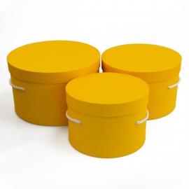Набір круглих коробок 3 шт Forever 3002-1909 Жовті