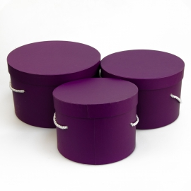 Set of round boxes of 3 pieces Forever 3002-411 Purple