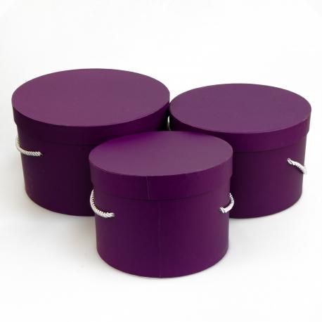 Набір круглих коробок 3 шт Forever 3002-411 Фіолетові