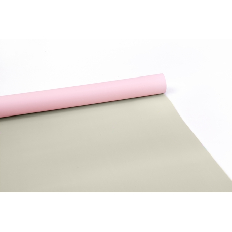 The film is matt double sided in a roll 0,7 x 9m P.OY-165 Cream - Lt Pink