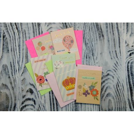 Вітальна листівка з конвертом Неонові MINI1911 9.9*7