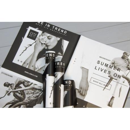 Пленка матовая в листах SSFC Fashion Black 171