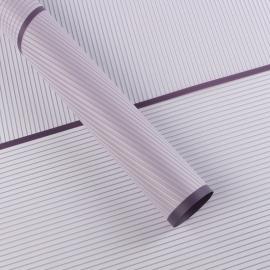 Пленка матовая полосатая из каймой 60 × 60 см.