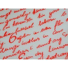 Плёнка с рисунком «Письмо» красным