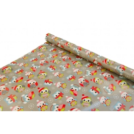 """New Year's paper. 0.7m * 10yards """"New Year's penguins"""" on the Gray"""