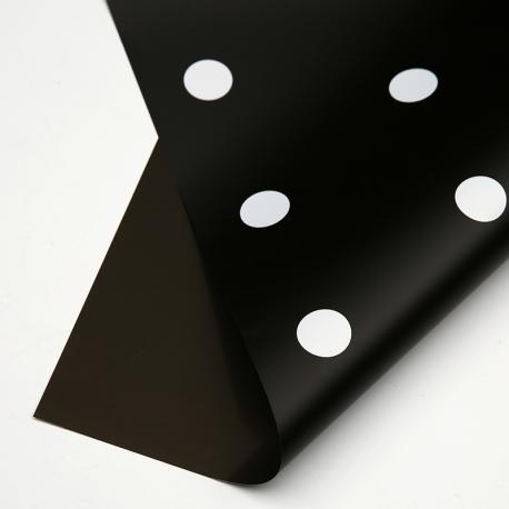 """Пленка матовая """"Горох"""" в рулонах 0,7 х 8м P.XXY-171 Black"""
