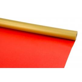 Папір двост. PRESIDENT 0,7м*8м Золото+Червоний