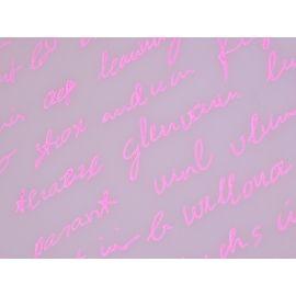 Плівка з малюнком «Лист» рожевим