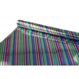 Папір тисн. та метал. 0,7м*10м Діагональ на сріблі