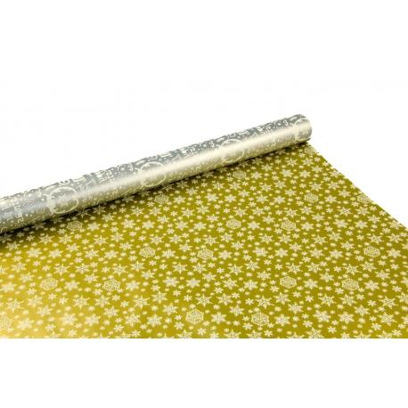 "Metallized paper 0,7m * 10m ""Merry Christmas"" gray"